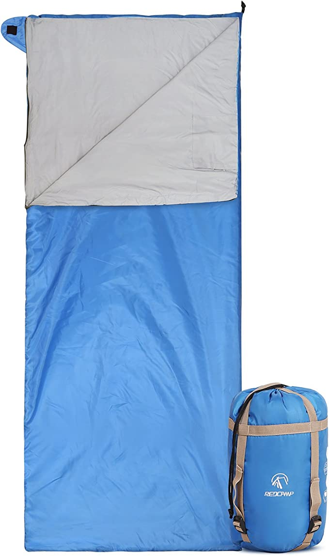REDCAMP Cotton Lined Sleeping Bag for Adult Flannel Compact Sleeping Bag for Camping Fishing 3-4 Season Could Weather Winter