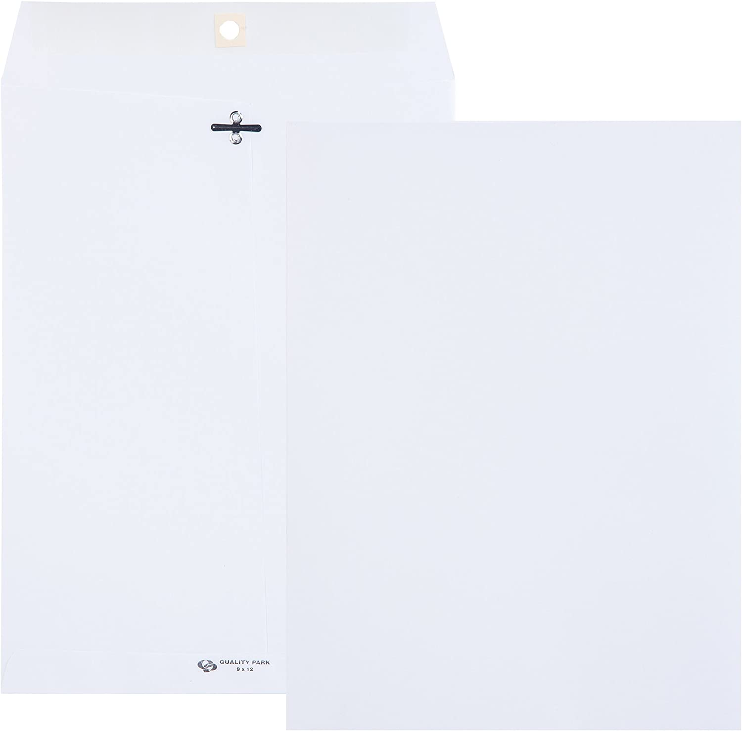Quality Park, Clasp Envelopes, Gummed, White Wove, 9x12, 100 per Box (38390) : Office Products