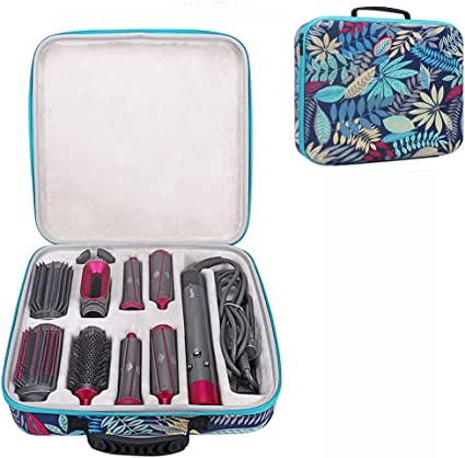 Esimen - Funda de viaje para Dyson Airwrap Styler Rizador de pelo, accesorios de transporte, bolsa de almacenamiento, organizador (negro + rojo): Amazon.es: Belleza