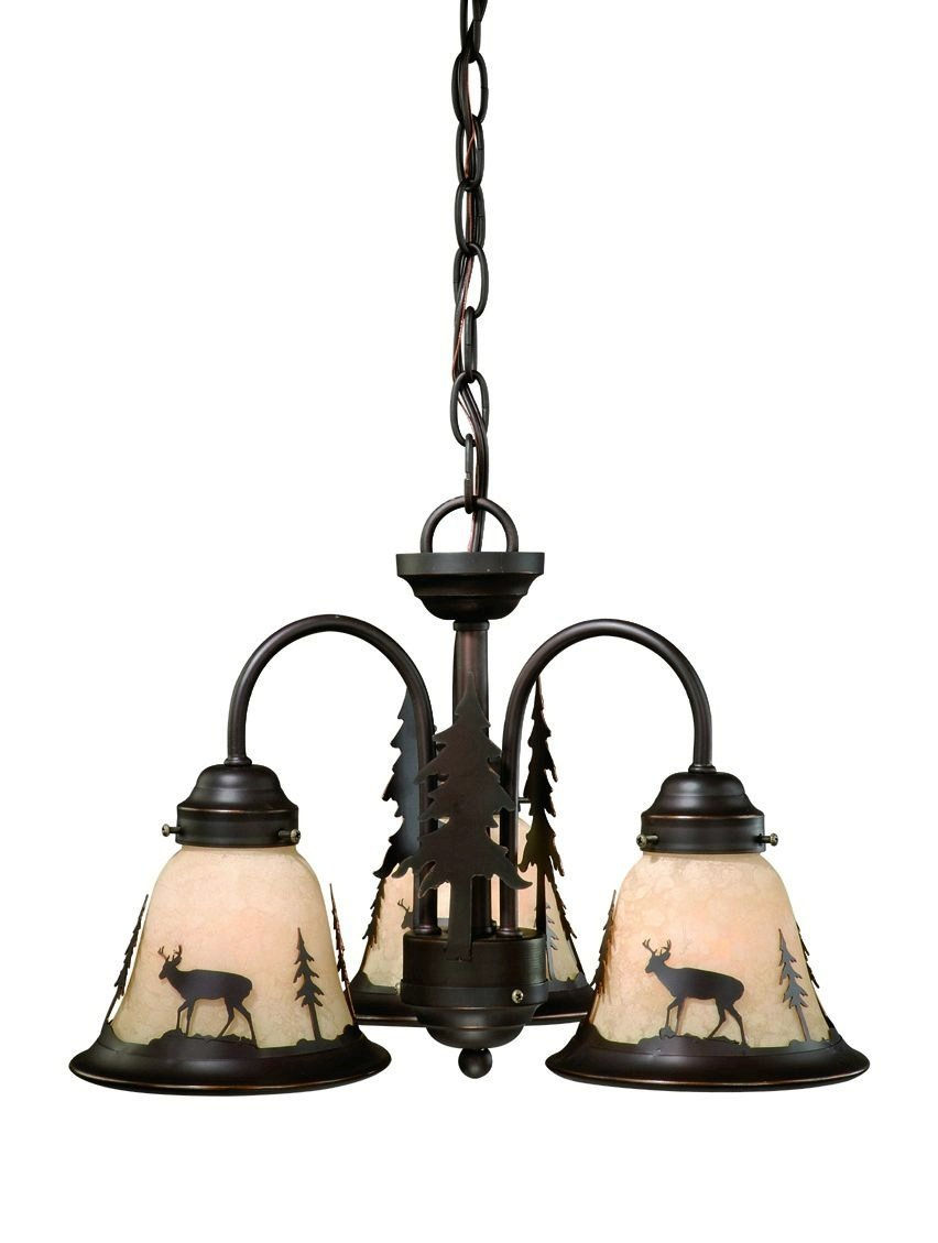 Vaxcel LK55416BBZC 3 Light Bryce Fan Kit Chandelier, Burnished Bronze