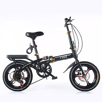 6 velocidad de Bicicleta plegable Marco de aluminio ligero Shimano Bicicleta plegable 16 pulgadas Amortiguador de