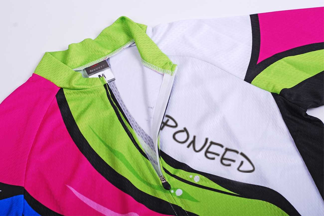sponeed Womens Cycle Jersey Long Sleeve Bike Riding Clothes Breathable