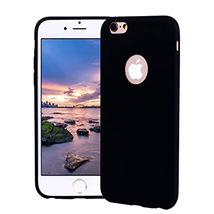 Funda iPhone 6 Plus, Carcasa iPhone 6S Plus Silicona Gel, OUJD Mate Case Ultra Delgado TPU Goma Flexible Cover para iPhone 6 Plus/6S Plus - Negro