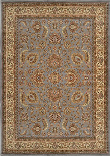 Home Dynamix HD998-327 Royalty Collection Area Rugs, 5-Feet 2-Inch by 7-Feet 2-Inch, Blue/Ivory - Area Royalty Collection Rug