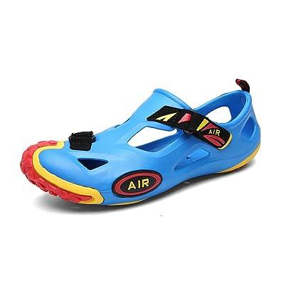 Herren Rund Toe Baotou Sandalen Leichte Bequeme Sommer Atmungsaktive Klettverschluss Schnalle Sandaletten Schwarz 39 EU 7lxli