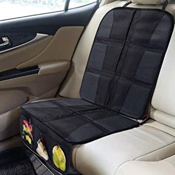 Backseat Cover Seat Cover Mat for Under Car Seat with Thick Padding to Protect Your Car Seats GUIFIER Car Seat Protector Cover for Infant Child Seats Car Backseat Protector With Storage Organizer