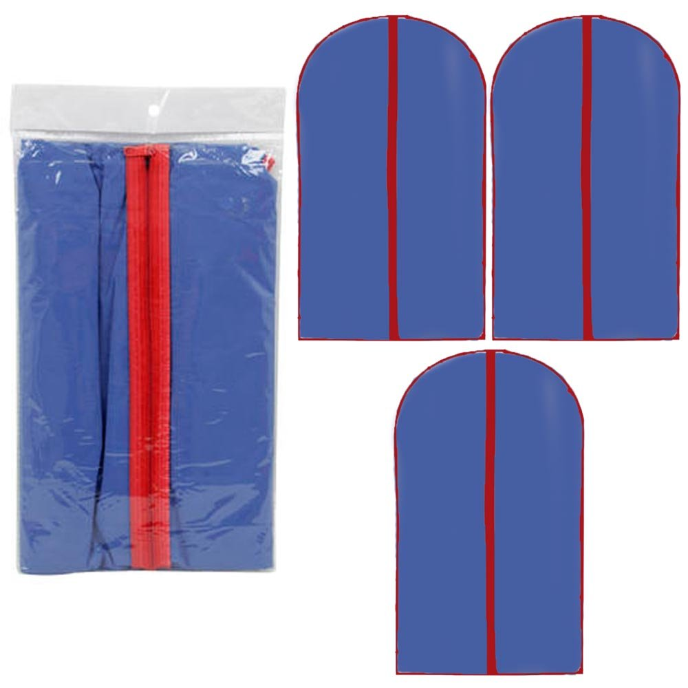3 Garment Bags 54''X23.75'' Coats Dresses Suits Cover Protector Luggage Blue New