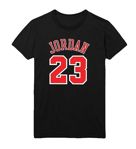 MYMERCHANDISE Jordan 23 Number Basketball T-Shirt Camiseta Shirt para  Hombre Hombres Camisa Negra Men Men s Tshirt 100% Algodón Regalo De  Cumpleaños Navidad ... cb771e03ccd
