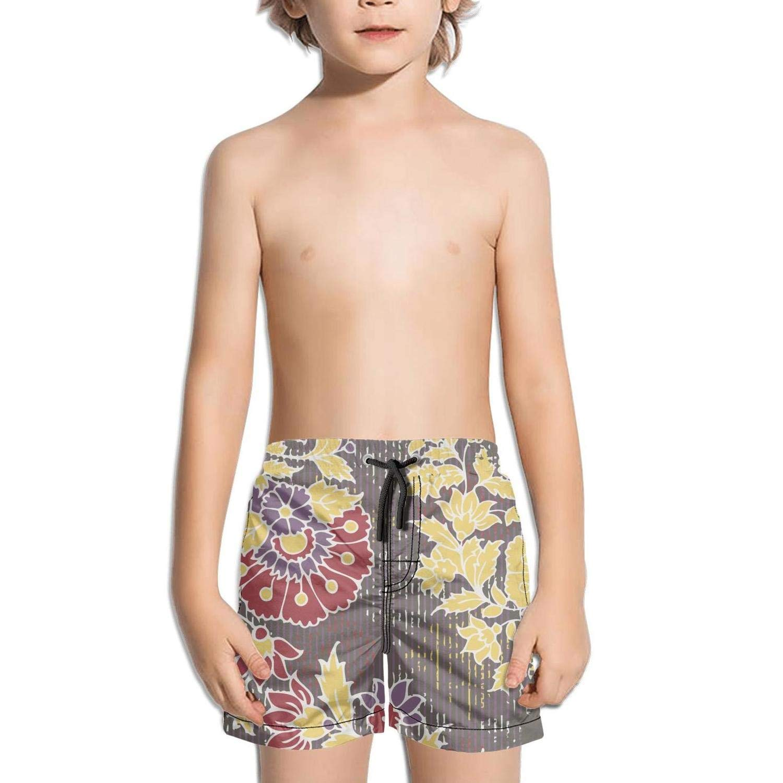 Ouxioaz Boys Swim Trunk Abstract Watercolor Floral Flowers Beach Board Shorts