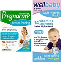 Pregnacare Breast Feeding, 84 Tablets and Wellbaby Multivitamin Liquid, 150ml Bundle