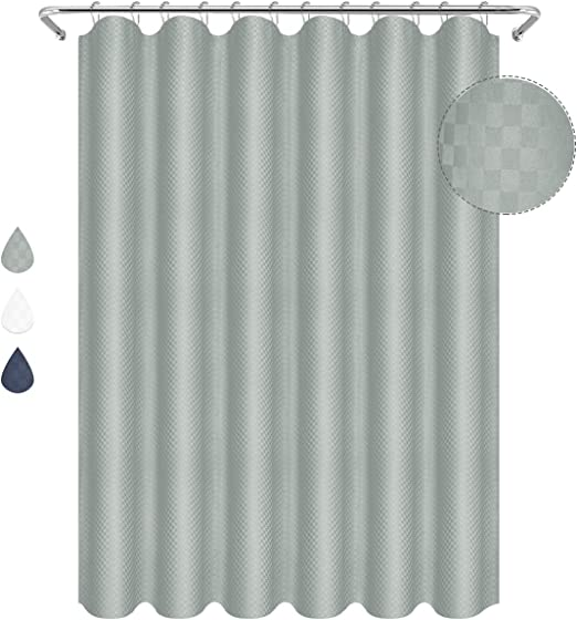 PEVA Waterproof Bathroom Plaid Large Shower Curtain with Hook 5 Size New Modern