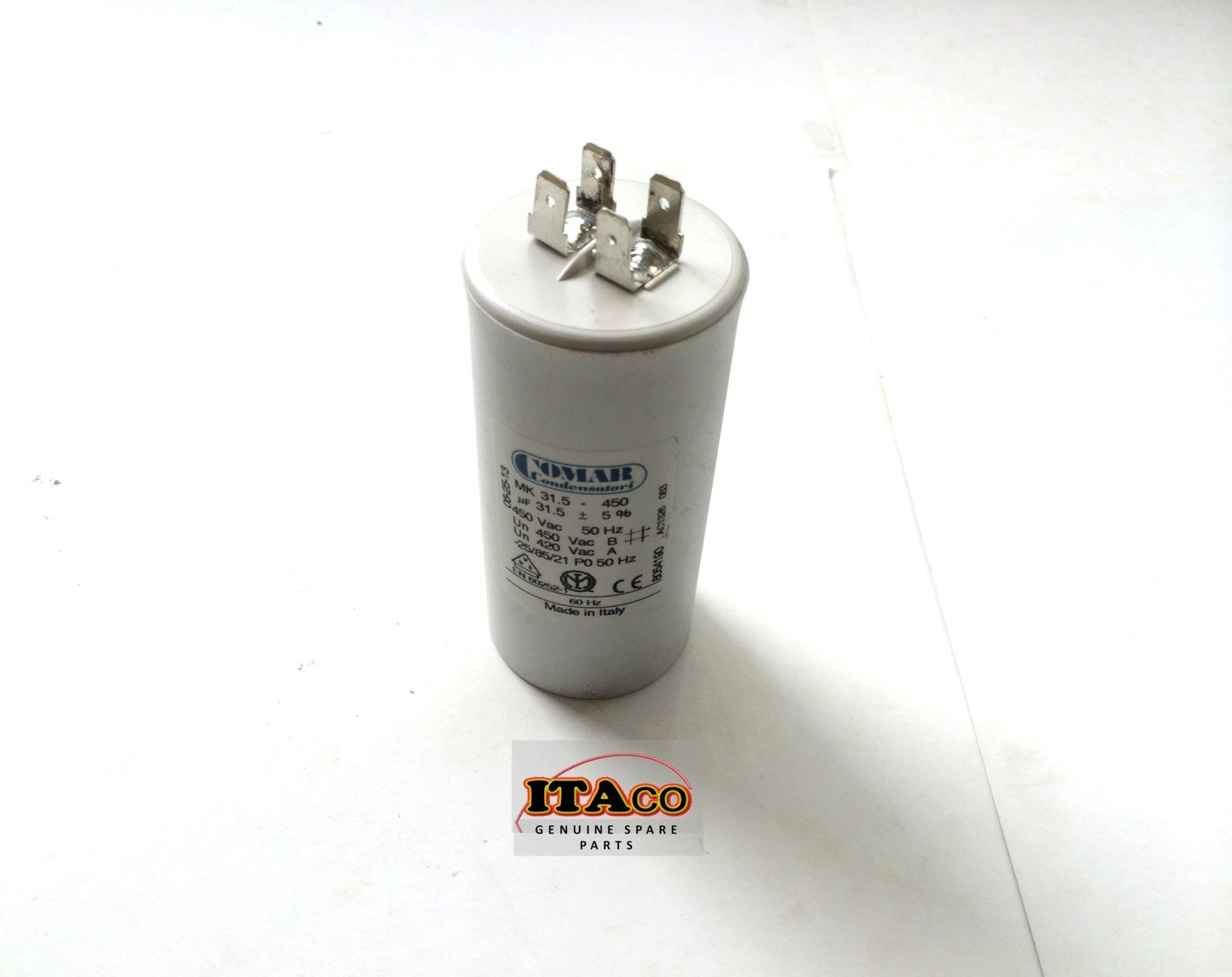 Made in ITALY Motor Electrolytic Comar CONDENSER CAPACITOR MK31.5uF 30UF ~ 31.5UF ~ 33UF 31uF 32uF 450V Vac by ITACO