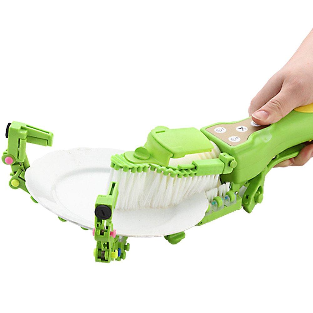 Dishwasher, Sacow Handheld Automatic Dish Brush Scrubber Antibacterial Dishwasher Fits Kitchen Bowls Plates Chips Tools by Sacow Dishwasher (Image #1)