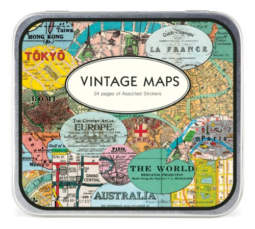 Cavallini & Co. Stickers Vintage maps Label/map