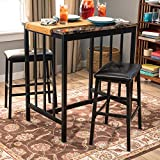 Home Source 7000-BR MOP Table with 2 Chairs Brown