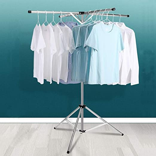 Amazon.com: Luckincolt Collapsible Clothes Rack Foldable Portable Space Saving Clothes Drying Rack High Capacity Stainless Steel Laundry Drying Rack with 4 Branches: Home & Kitchen