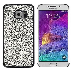 Caucho caso de Shell duro de la cubierta de accesorios de protección BY RAYDREAMMM - Samsung Galaxy S6 EDGE SM-G925 - Faces Wallpaper Never Ending