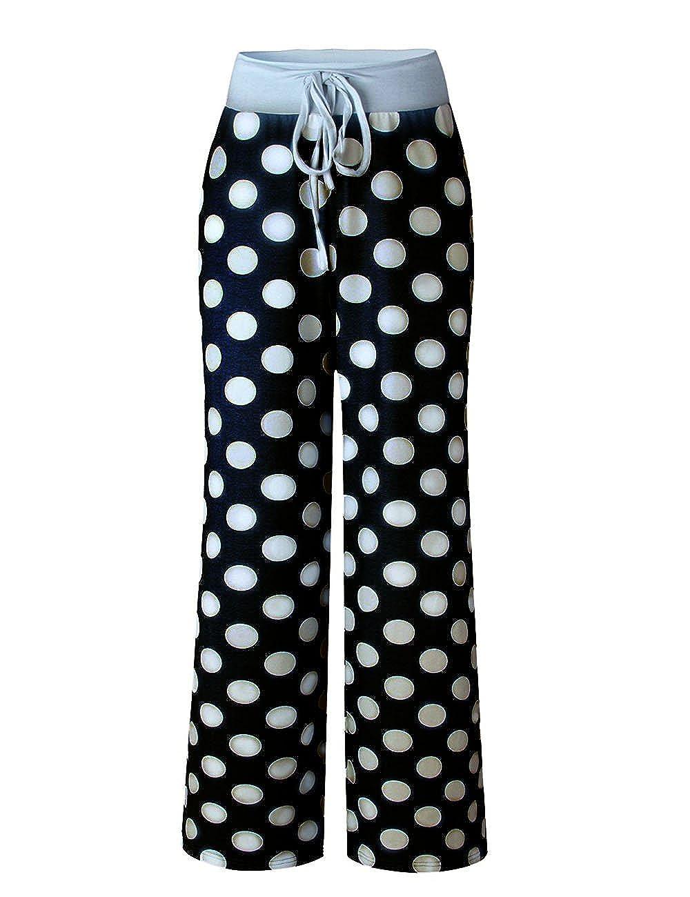 2xl Kinikiss Mujer Pantalones Anchos Casual Floral Talle Alto Pantalon Yoga Jogging Deportivos Grandes M Pantalones