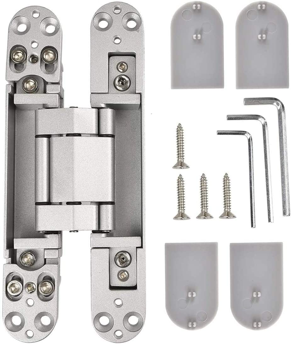 Ranbo 6 x 2.5 x 1 inch Zinc Alloy//Aluminum Alloy Material Heavy Duty Invisible//Concealed//Hidden 3 Way Adjustable Butt Hinge Suitable for Commercial Residential Industrial Door 6 inch Black