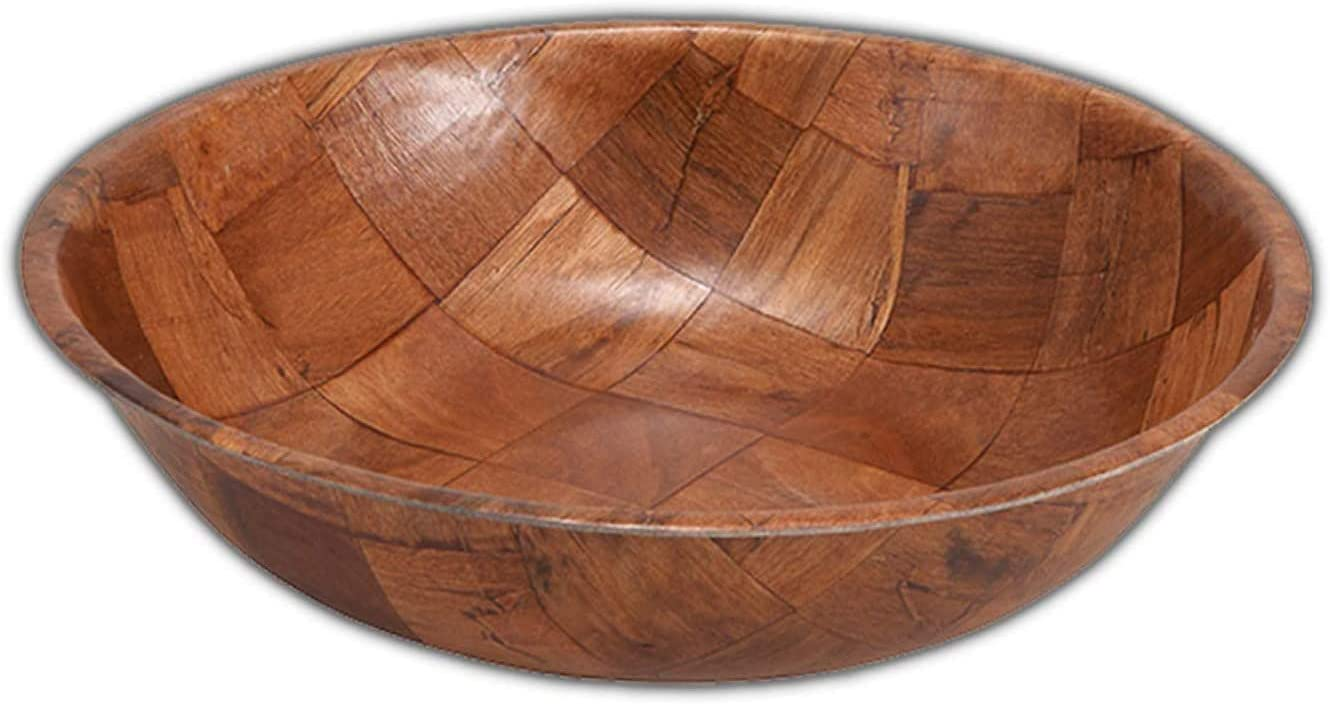 Wooden Salad Bowl Set Includes – Four 12 Inch Wooden Serving bowls, Great for Fruit, Food, Salads, and Serving at All Your Parties.