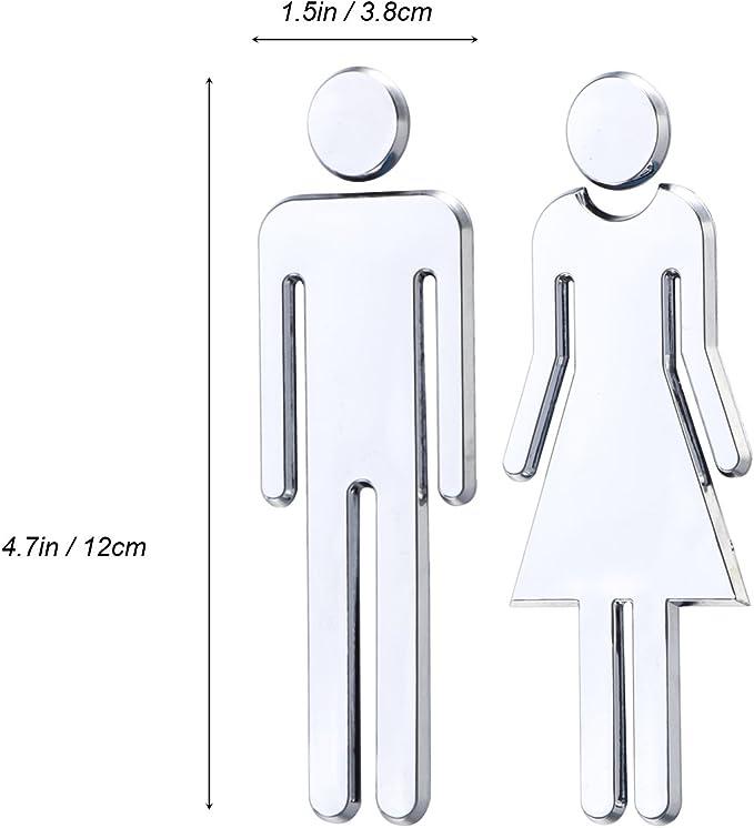 3D Toilette Miroir Hommes Femmes Décor Amovible Décalcomanie Art Vinyle
