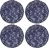 Burleigh Blue Calico Plates 8.5'' (Set of 4)