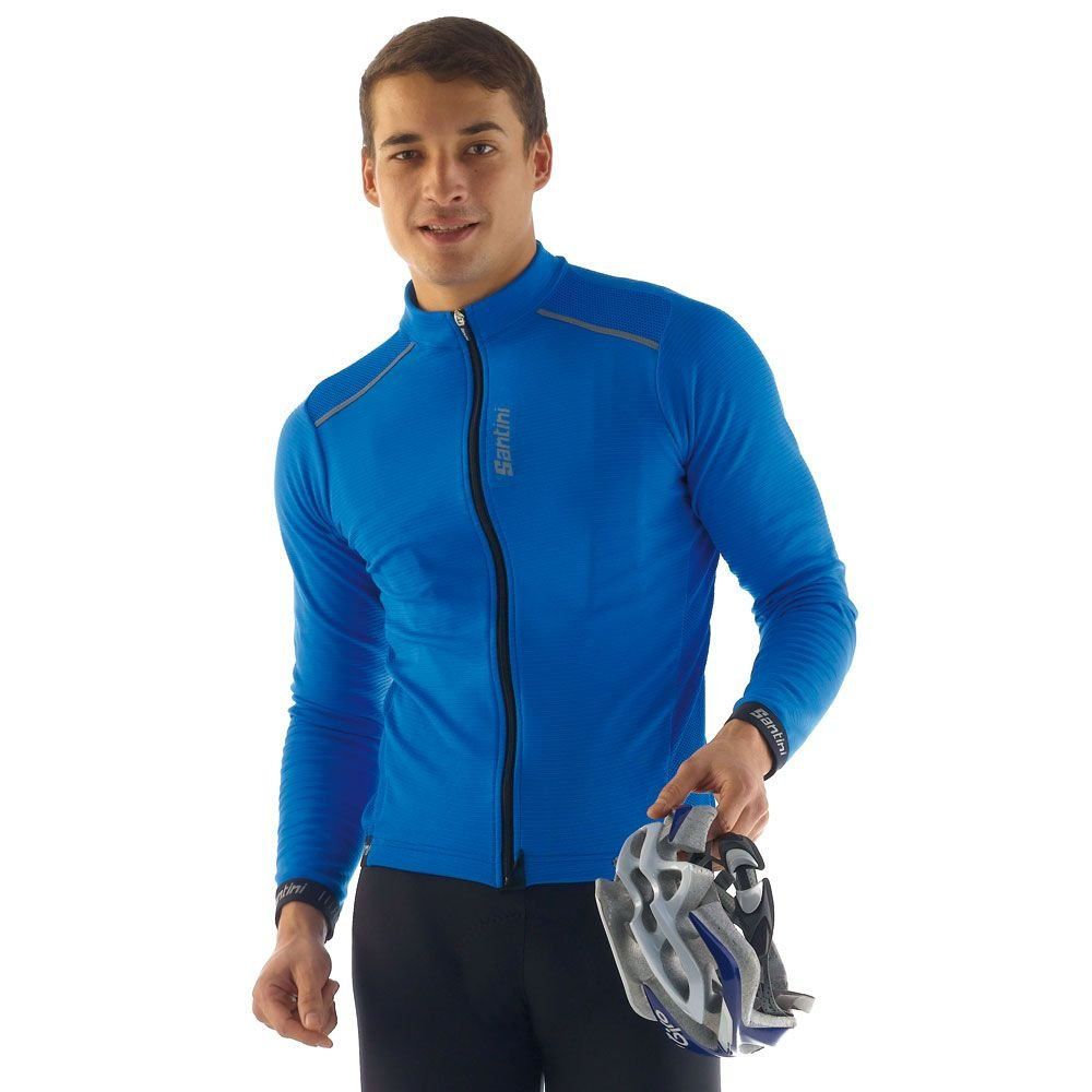 SP216075PRIMO Santini Primo-Maillot à manches longues Thermofleece Royal Taille XL