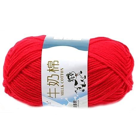 HK SSK morbido latte in cotone naturale a mano lana gomitolo ...