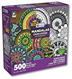 Karmin International Color a Puzzle - Mandalas Chakras Design Puzzle (500 Piece)