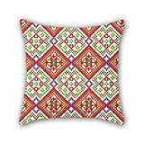 PILLO Bohemian throw pillow case 20 x 20 inches / 50 by 50 cm best choice for monther,wife,husband,monther,couples,play room with 2 sides
