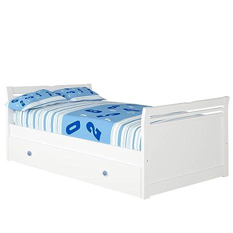 bainba Cama Nido Alas (Colchón 105 x 200, Azul)