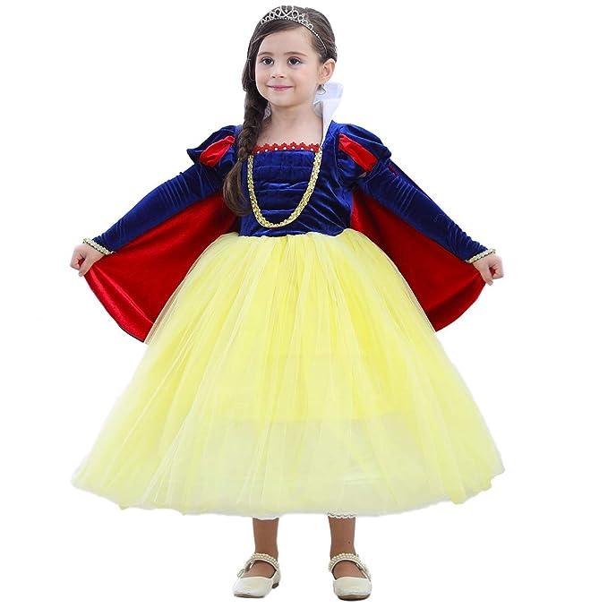 OBEEII Disfraz Blancanieves Niña Vestido de Princesa ...