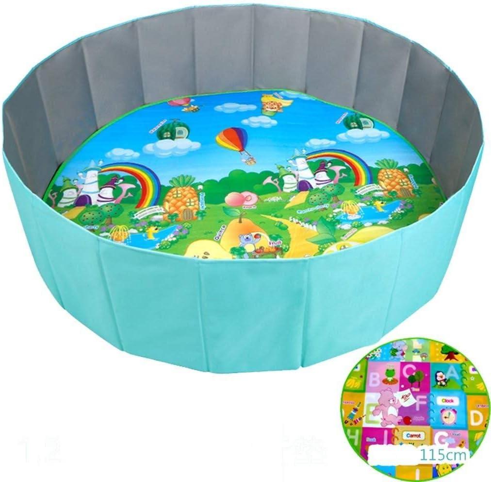 Yankuoo Plegables for niños del niño de la Bola Pop Up Jugar Pit Piscina Redonda y la Almohadilla Protectora