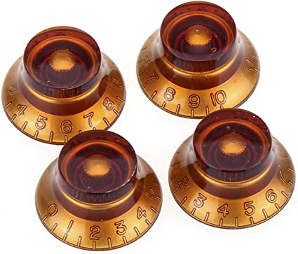 """ES NEW Amber Bell Knobs for Gibson Les Paul 4 SG Guitar USA or 1//4/"""" pots"""