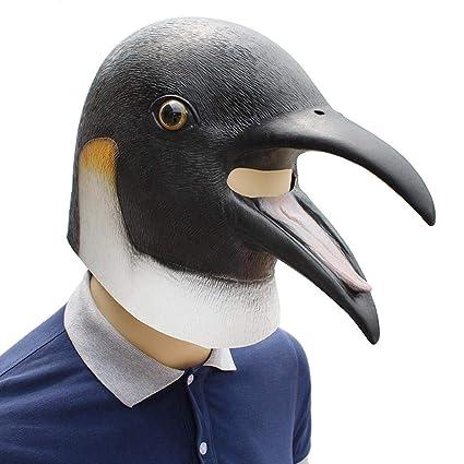 Máscara de látex para disfraz de pingüino de Halloween, fiesta, baile, fiesta,