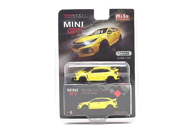 1//64 TSM MINI GT Honda Civic Type R Left-hand Drive Diecast Model Blue MGT00002