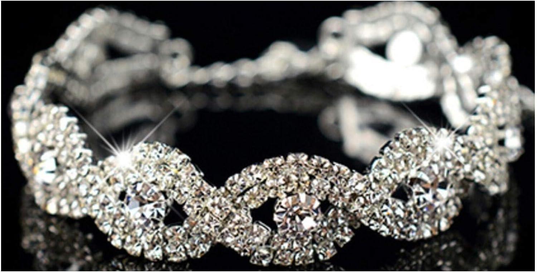 _ Persian Fashion Jewelry: Woman White + Silver Rhinestone Wrap Cuff Bangle Chain Bracelet # JAB1 61TaCLZhPiLUL1500_