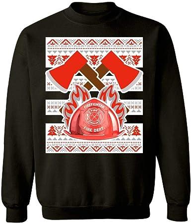 Sweatshirt Kellyww Fireman Firefighter Ugly Christmas Sweater