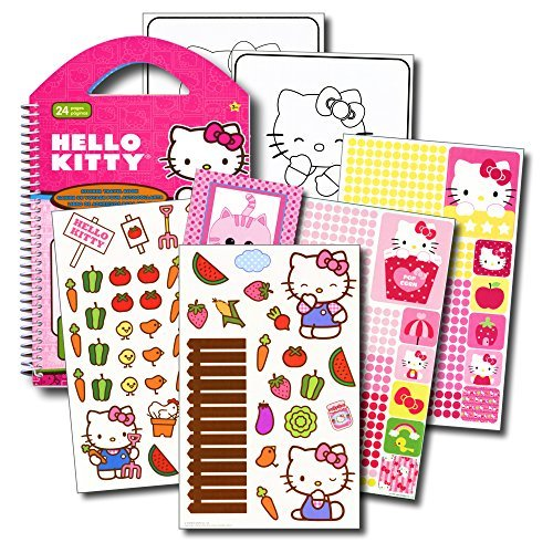 (Hello Kitty Stickers Travel Activity Set With Over 2000 Stickers and 12 Activity Pages Plus Bonus Reward Sticker (Hello Kitty Party Supplies) )