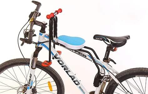 GODNECE - Asiento para Bicicleta Delantero Infantil, Asiento de Bicicleta para bebé, Asiento de Bicicleta para niño y niño, Desmontable, Asiento Delantero con Pedal y asa, Azul: Amazon.es: Deportes y aire libre