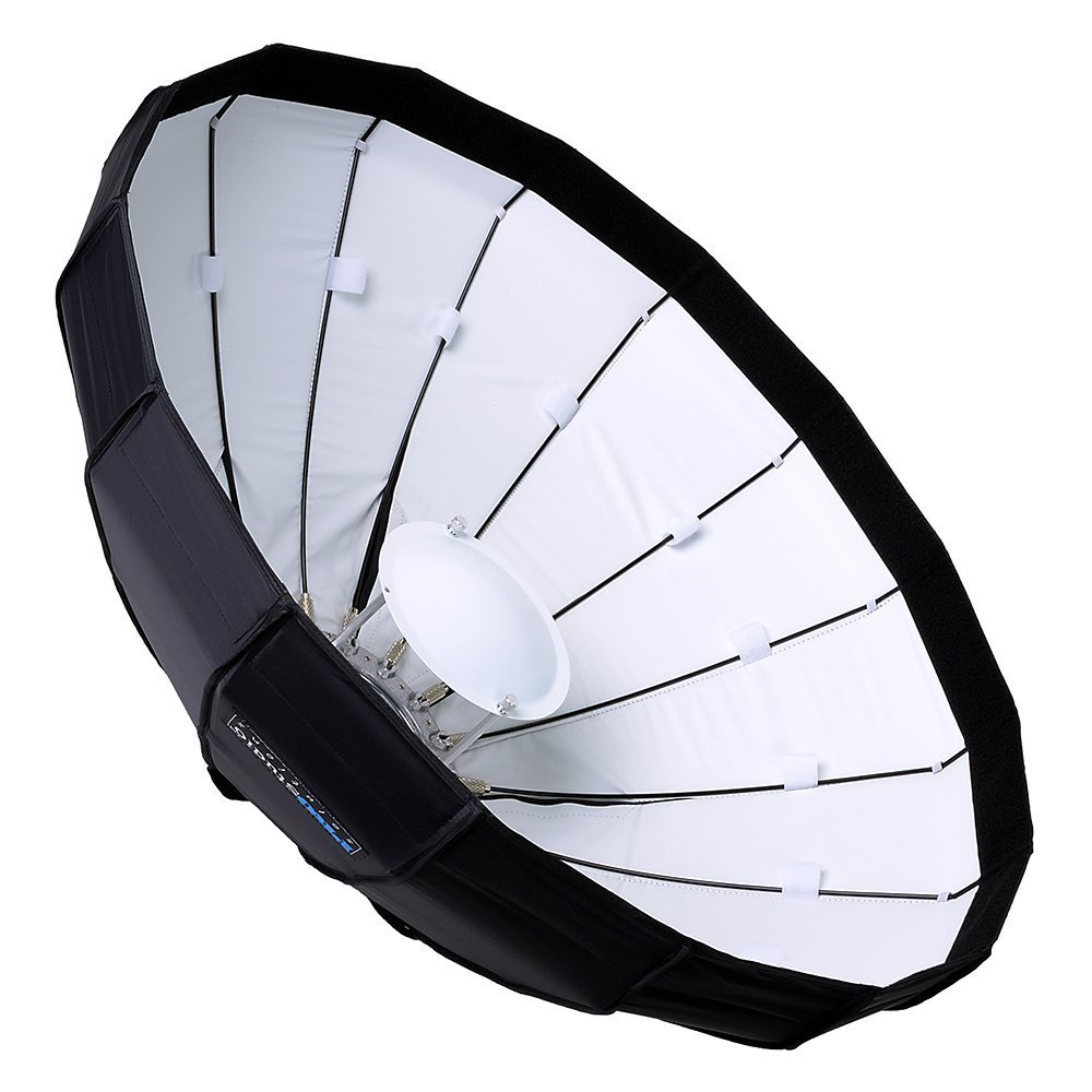 Pro Studio Solutions EZ-Pro 24' Beauty Dish and Softbox Combination with Novatron Speedring for Novatron FC-Series, M-Series, and Compatible - Quick Collapsible, Soft White Interior, with Double Diffusion Panels Fotodiox Inc. EZPro-BtyDsh24in-Novatron