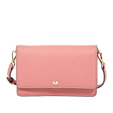 9a66f2166d03 Michael Kors Pebbled Leather Convertible Crossbody ROSE  Handbags   Amazon.com