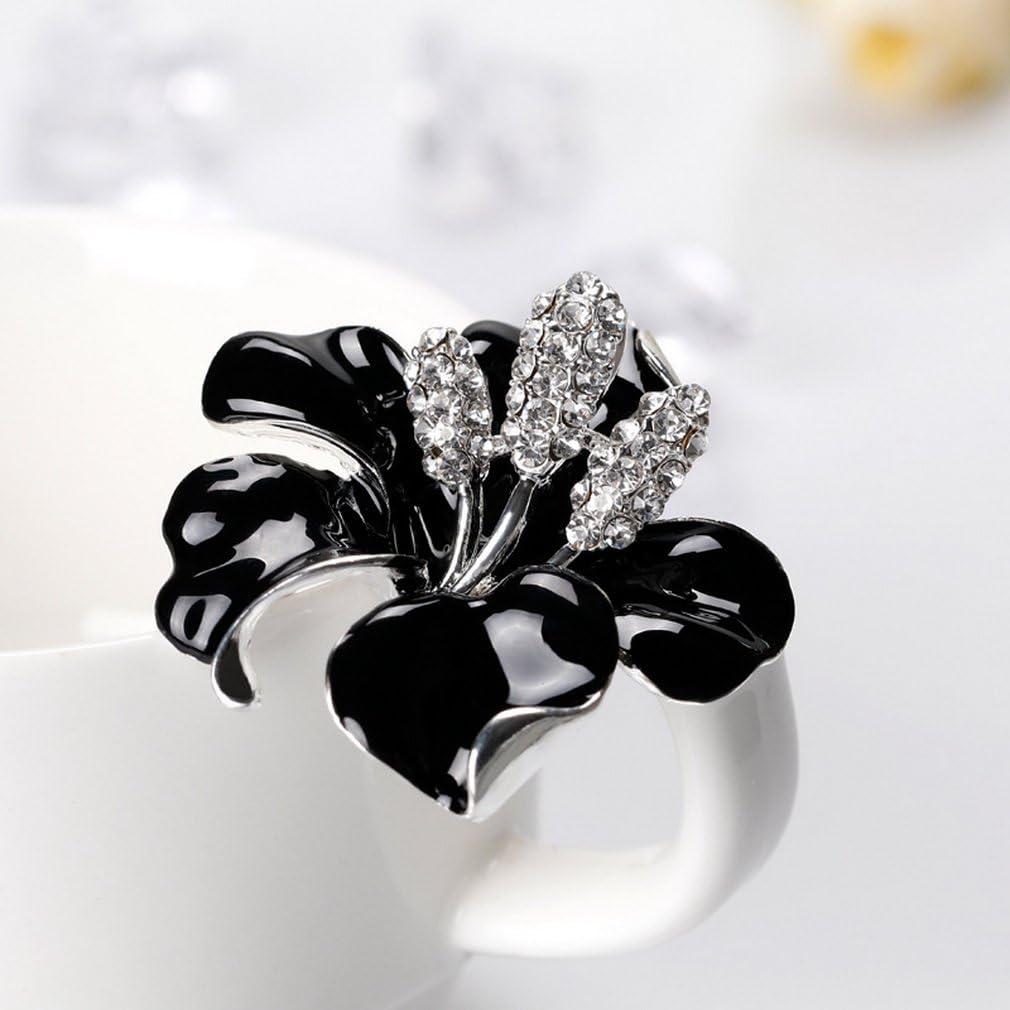 YAZILIND Exquisite Bride Wedding Rhinestones Flower Alloy Brooch Pin Corsagee for Women Girls Accessories