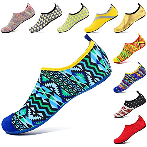 Water For Footwear Sock Vifuur Shoes Yoga Indoor Slipper Comfort Figuregreen Women Men 0xIwqd8B
