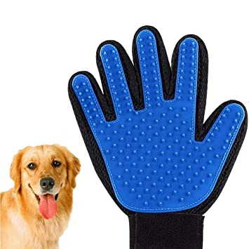 TQWMU� Dog, cat Fur Blush Smoothing Comb Rubber Paws Pattern Gloves Washing Combs and Combs for Hair