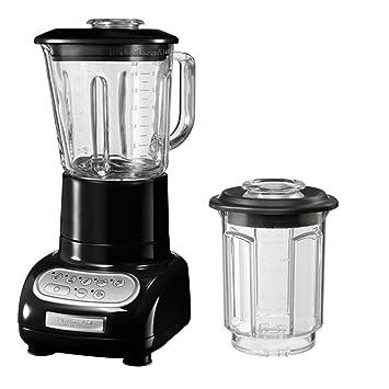 KitchenAid 5KSB5553EOB - Batidora de vaso, con capacidad del tazón de 0.75 l, 550 W, 220-240 V, color negro: Amazon.es: Hogar