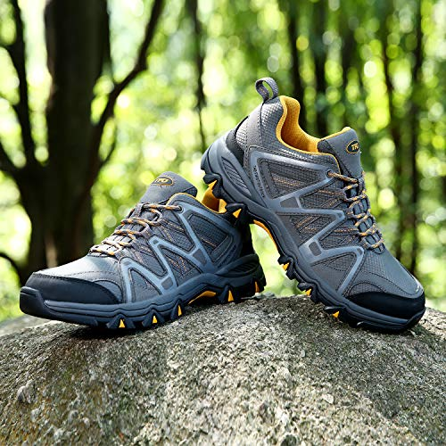 Pictures of The First Outdoor Men's Hiking Shoes 851802H01M47 Grey/Yellow 2