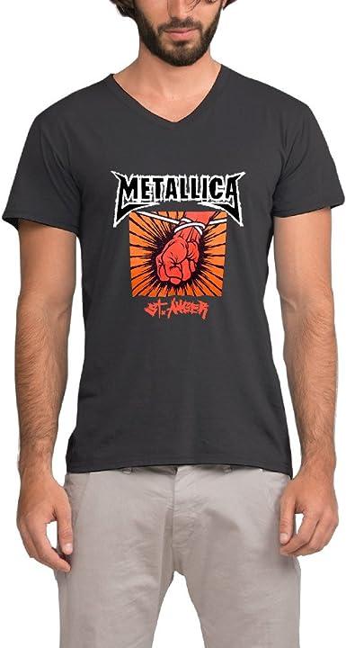 Kesshvi ST. Anger Studio álbum Metallica del hombre camiseta de Vneck personalizado impresión