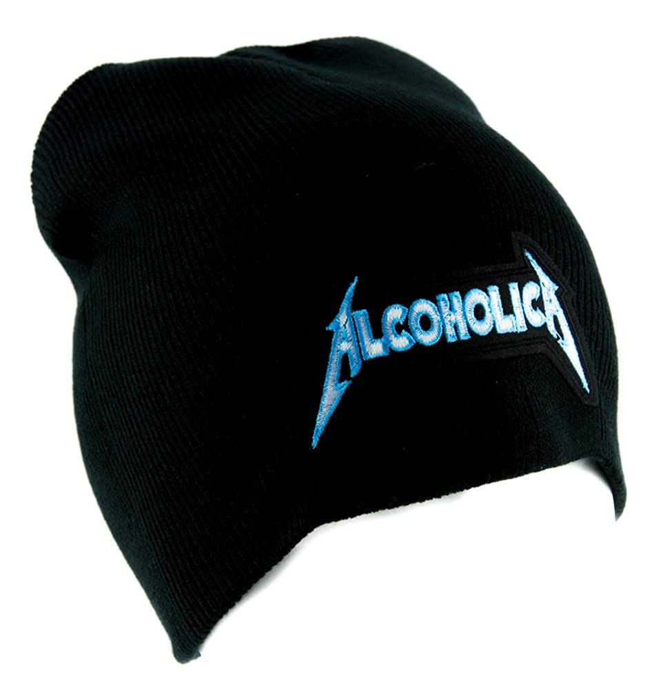 339b524f515 Amazon.com  Alcoholica Metallica Spoof Beanie Alternative Clothing Knit Cap  Heavy Metal Music  Clothing