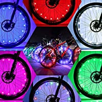 DAWAY Led Bike Wheel Lights - A01 Waterproof Bright...